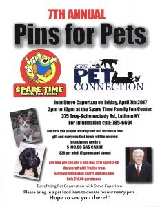 7th Annual Pins 4 Pets - BOWL FOR ANIMALS! @ Spare Time Family Fun Center | Latham | New York | United States