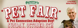 Benson's Pet Center Pet Fair and Pet Connection Adoption Day @ Benson's Pet Center  | New York | United States