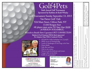 Steve Caporizzo's Pet Connection and Van Patten Golf Club present GOLF4PETS! @ Van Patten Golf Club | Slingerlands | New York | United States