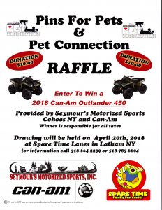 It's that time again! C'mon down to Spare Time Lanes from 3PM to 10PM on April 20 for the 8th Annual Pet Connection Pins For Pets Fund Raiser with your ...
